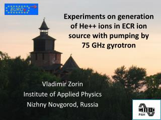 Experiments on generation of He++ ions in ECR ion source with pumping by  75 GHz  gyrotron