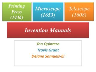 Invention Manuals