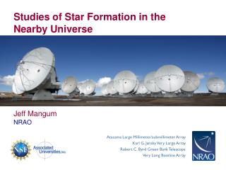 Studies of Star Formation in the Nearby Universe