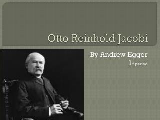 Otto Reinhold Jacobi