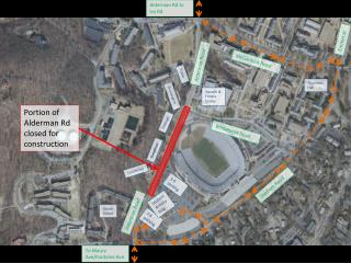 Portion of Alderman Rd closed for construction