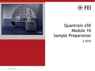 Quantrain x50 Module 10 Sample Preparation