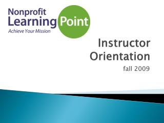 Instructor  Orientation