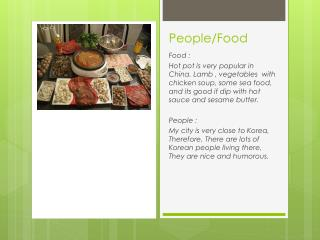 People/Food