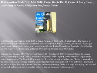 Radon Action Week Oct 17-24