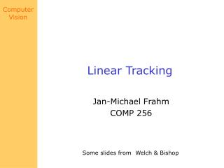 Linear Tracking