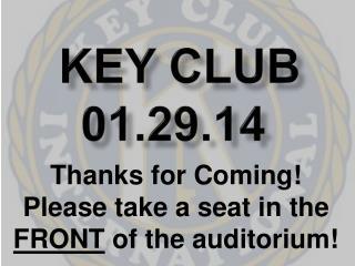 Key Club 01.29.14