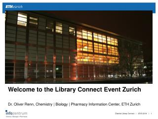 Welcome to the Library Connect Event Zurich