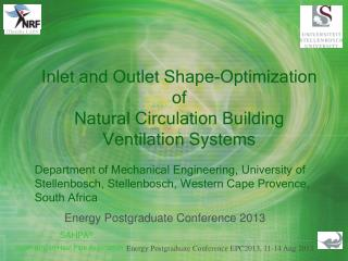 Inlet and Outlet Shape-Optimization of Natural Circulation Building Ventilation Systems