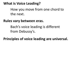 What is Voice Leading?