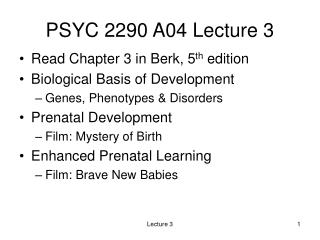 PSYC 2290 A04 Lecture 3
