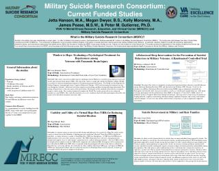 What is the Military Suicide Research Consortium (MSRC)?