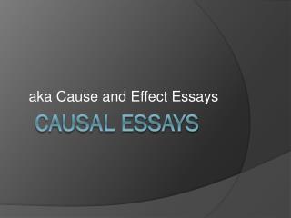 Causal essays