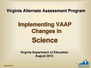 Virginia Alternate Assessment Program