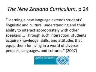 The New Zealand Curriculum , p 24