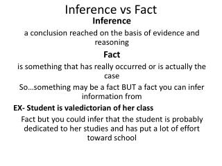 Inference vs Fact