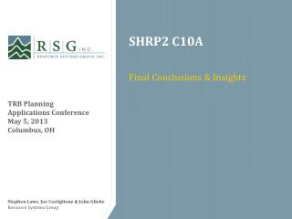 SHRP2 C10A