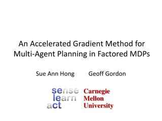 An Accelerated Gradient Method for Multi-Agent Planning in Factored  MDPs