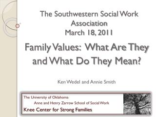 The Southwestern Social Work Association   March 18, 2011