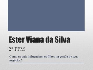 Ester Viana da Silva