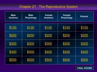 Chapter 27 - The Reproductive System