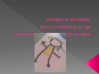 ESTEBAN ECHEVERRÍA  ESCUELA ESPECIAL N° 503 TRASTORNOS EMOCIONALES SEVEROS