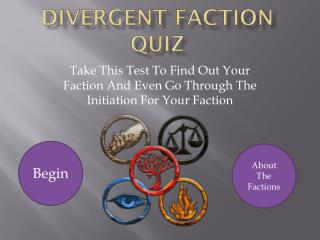 Divergent Faction Quiz