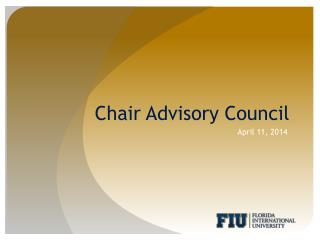Chair Advisory Council