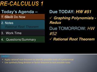 Today's Agenda – Feb 3