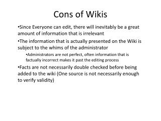 Cons of Wikis