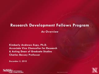 Research Development Fellows Program An Overview