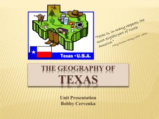 The geography of  TEXAS
