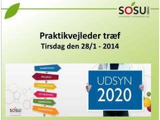 Praktikvejleder træf  Tirsdag den 28/1 - 2014