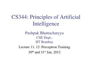 CS344: Principles of Artificial Intelligence