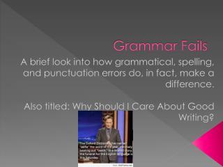 Grammar Fails
