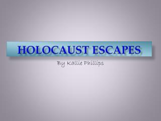 Holocaust escapes