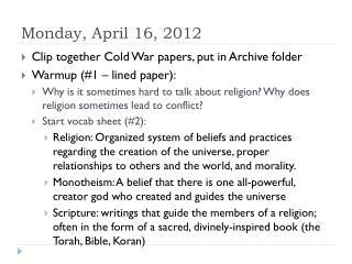 Monday, April 16, 2012