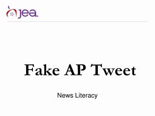 Fake  AP Tweet