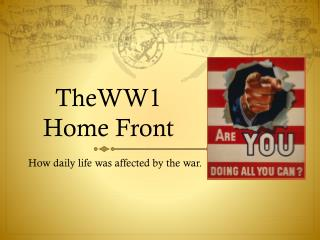 TheWW1 Home Front