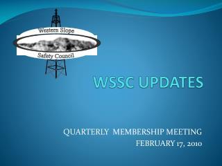 WSSC UPDATES