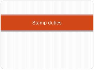 Stamp duties