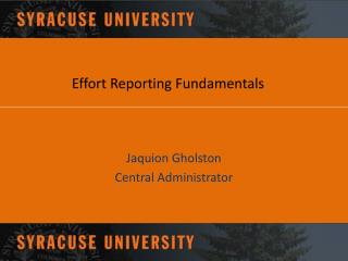 Effort Reporting Fundamentals