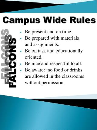 Campus Wide Rules