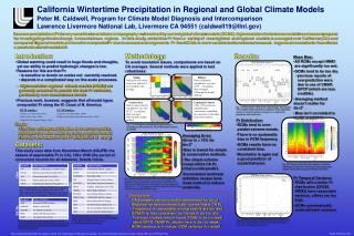 California Wintertime Precipitation in Regional and Global Climate Models