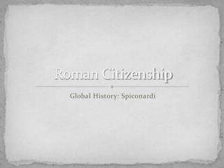 Roman Citizenship