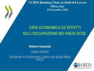 Crisi economica ed effetti sull'occupazione nei paesi ocse