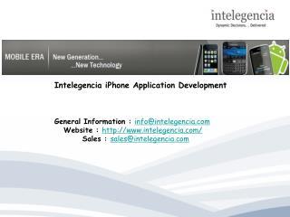 Intelegencia iPhone Application Development
