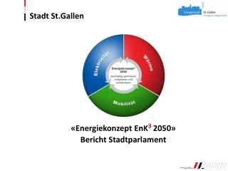 «Energiekonzept EnK 3 2050» Bericht Stadtparlament