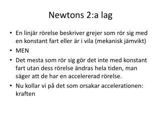 Newtons 2:a lag