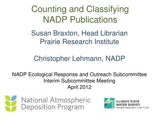 Counting and Classifying  NADP Publications